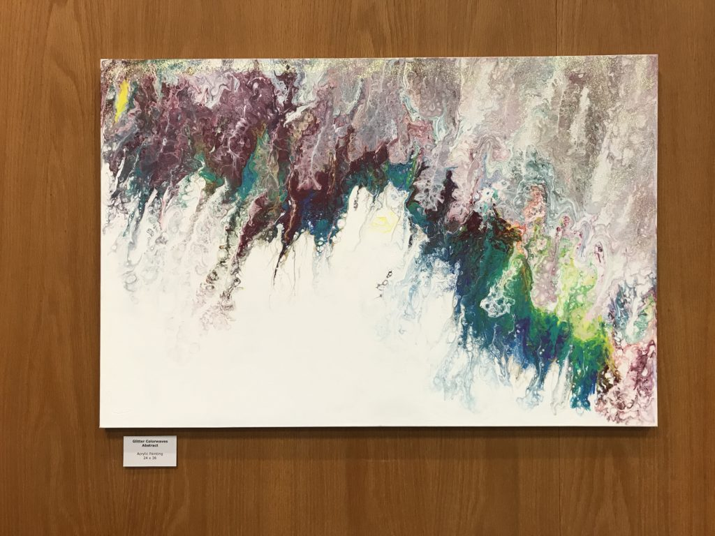 Image of Glitter Colorwaves an abstract painting by Ariana Rangel